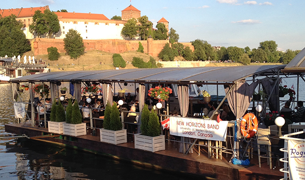New Horizons Band in Poland - riverboat